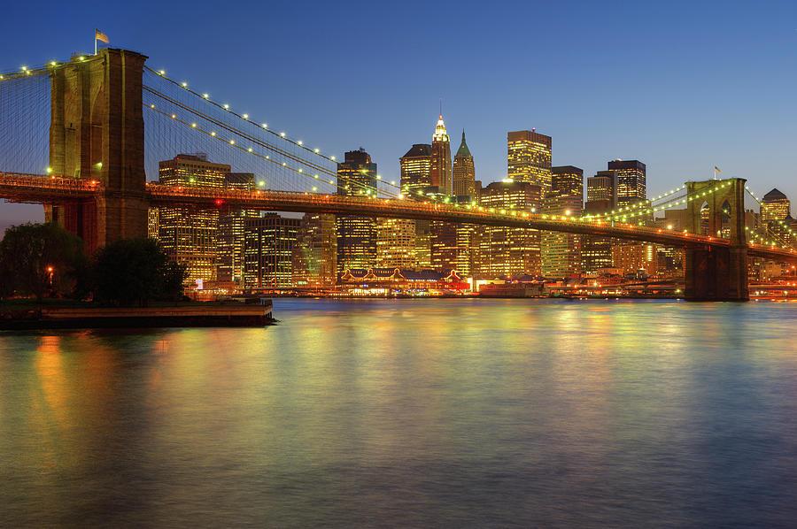 Brooklyn Bridge And New York City Photograph by Daniel Grill