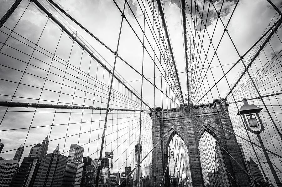 Brooklyn Bridge And New York Skyline Photograph by Cirano83