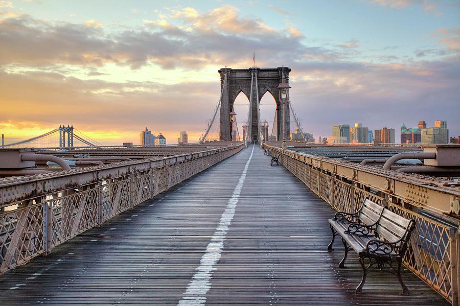 Brooklyn Bridge At Sunrise Photograph by Anne Strickland Fine Art Photography
