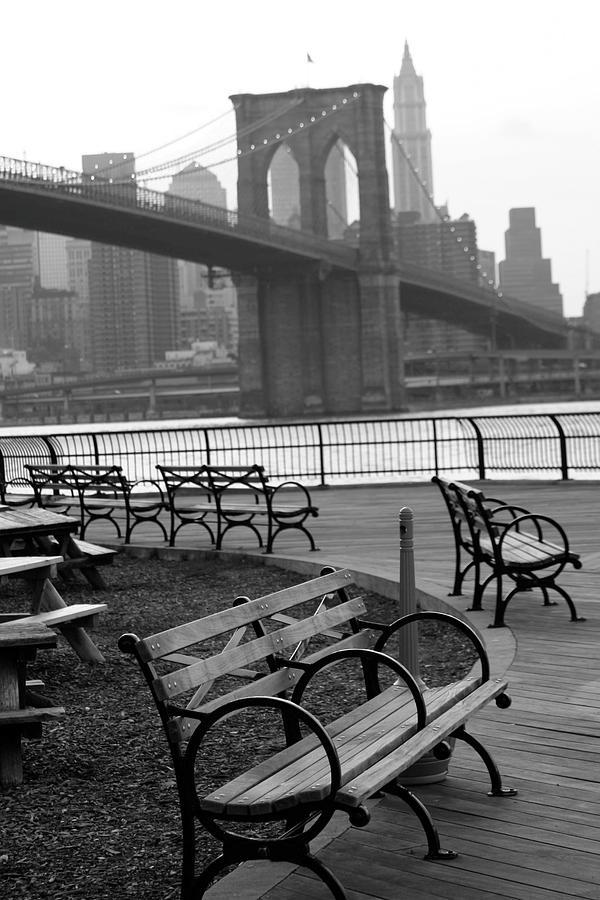 Brooklyn Bridge Photograph by Aurelie Desmas