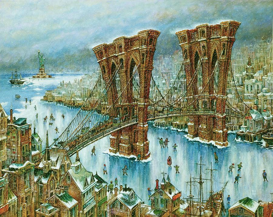 Brooklyn Bridge Painting - Brooklyn Bridge by Bill Bell