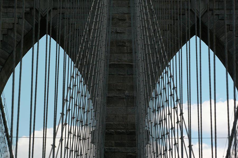 Brooklyn Bridge Photograph - Brooklyn Bridge Cables by Robert Goldwitz