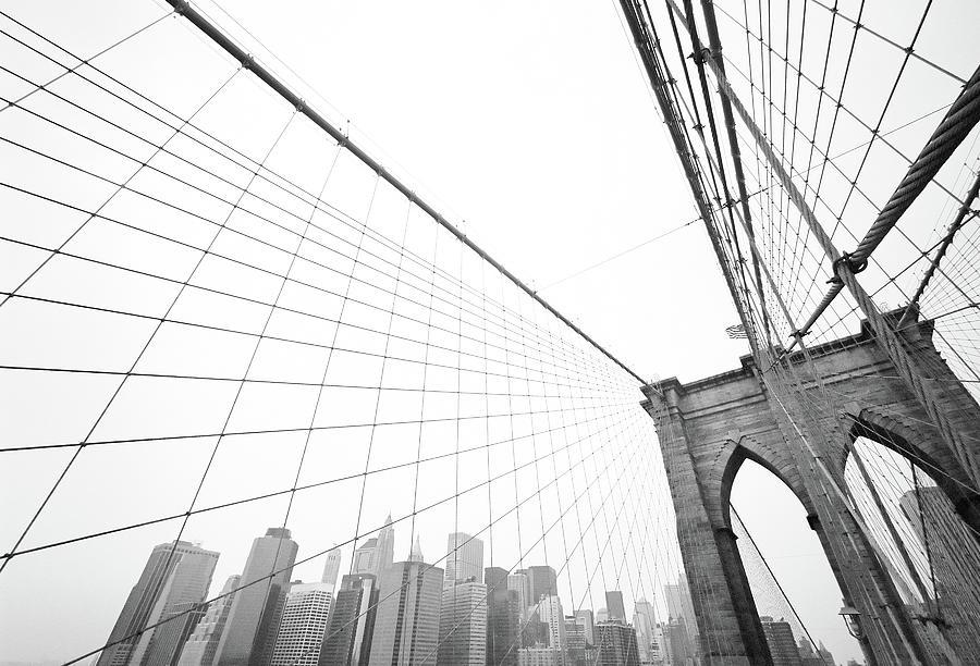 Brooklyn Bridge Cityscape Photograph by Digi guru