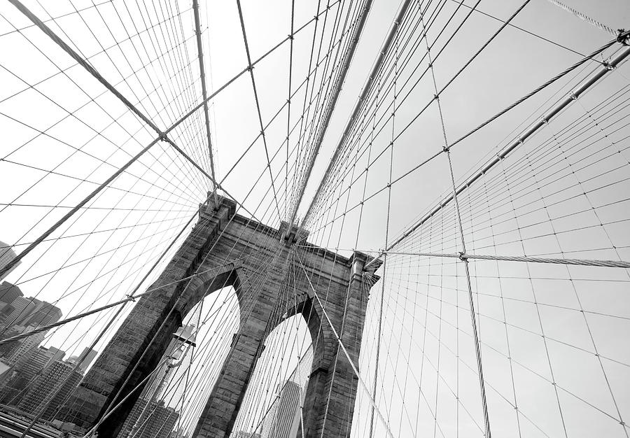 Brooklyn Bridge Detail In New York City Photograph by Lillisphotography