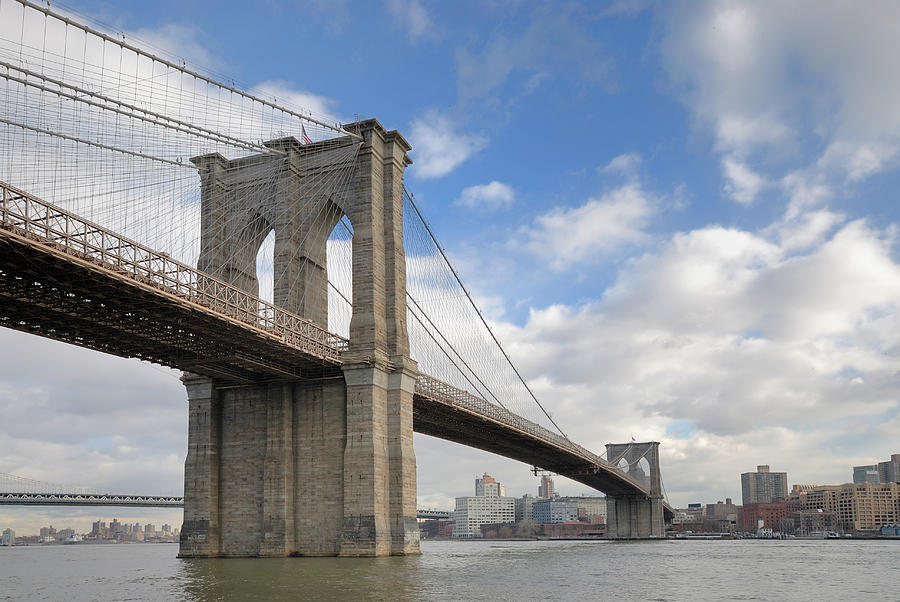 Brooklyn Bridge From Manhattan Photograph by Groveb
