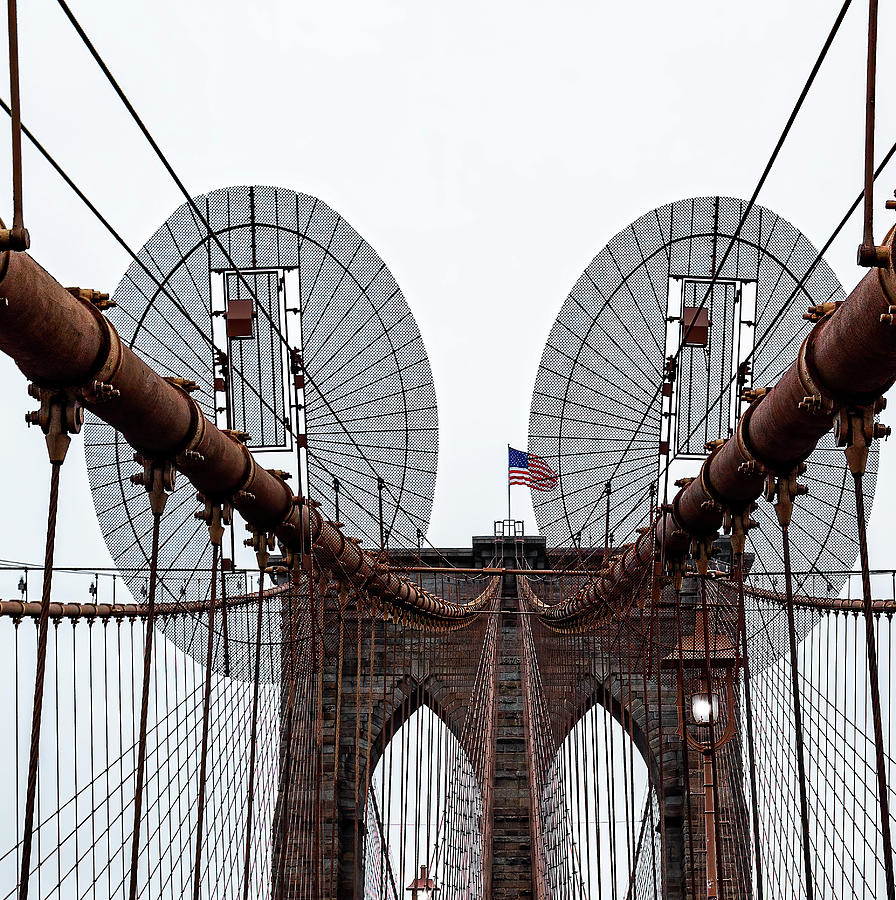 Brooklyn Bridge Geometrics by Kay Brewer