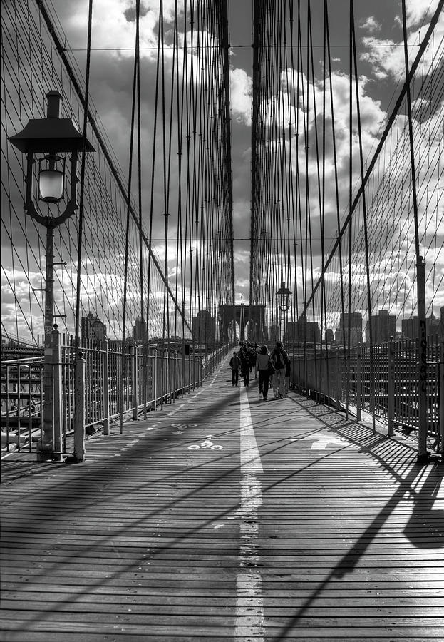Nyc Photograph - Brooklyn Bridge Hdr 1 by Chris Bliss