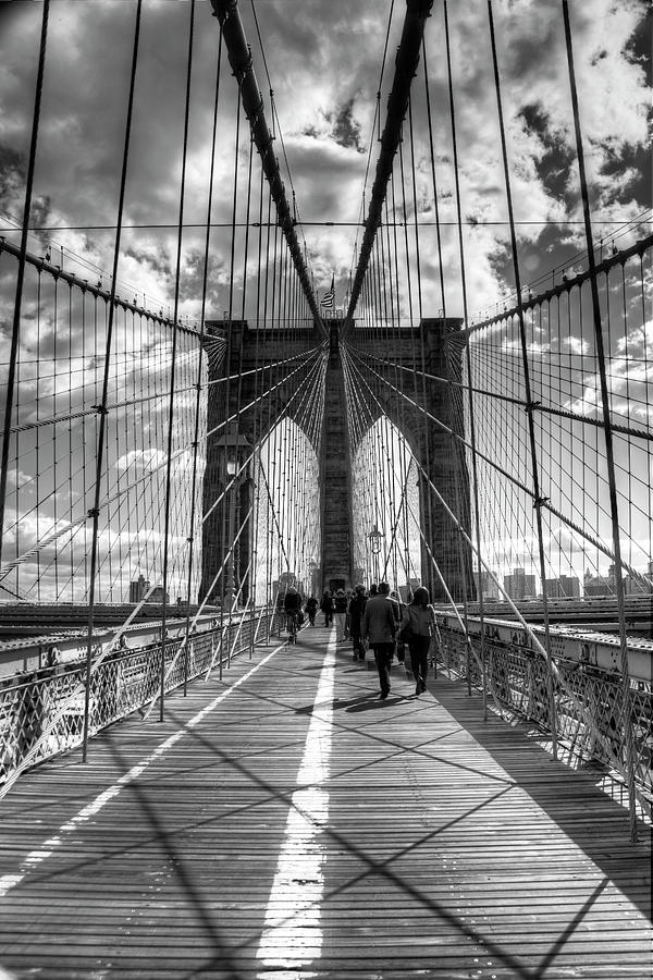 United States Photograph - Brooklyn Bridge Hdr 2 by Chris Bliss