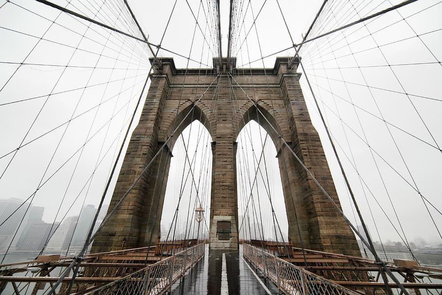 Brooklyn Bridge Photograph by Jimschemel