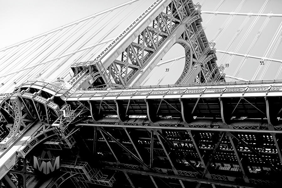 Brooklyn Bridge Pyrography by Manonce Artist