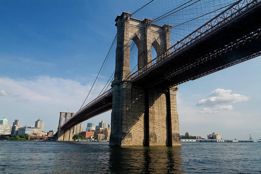 Brooklyn Bridge New York And East River Photograph by Lingbeek