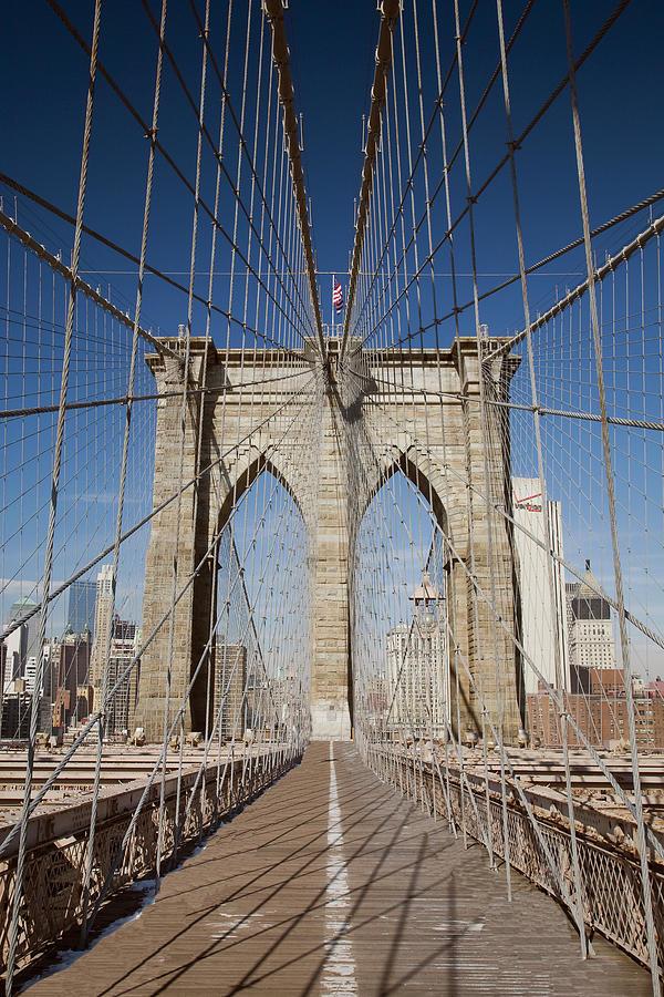 Brooklyn Bridge Photograph - Brooklyn Bridge,  New York City, New York 08 - Color by Monte Nagler