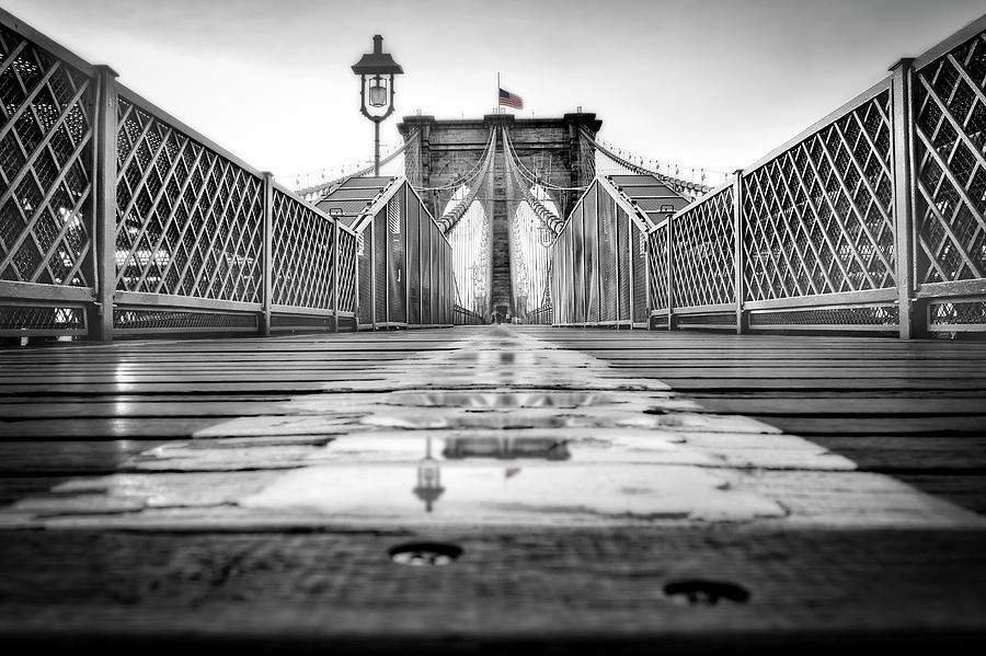 Brooklyn Bridge NYC  BW by Susan Candelario