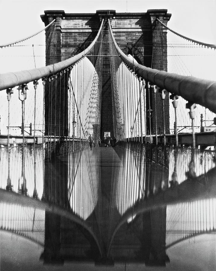 Brooklyn Bridge Reflected Photograph by Hirz