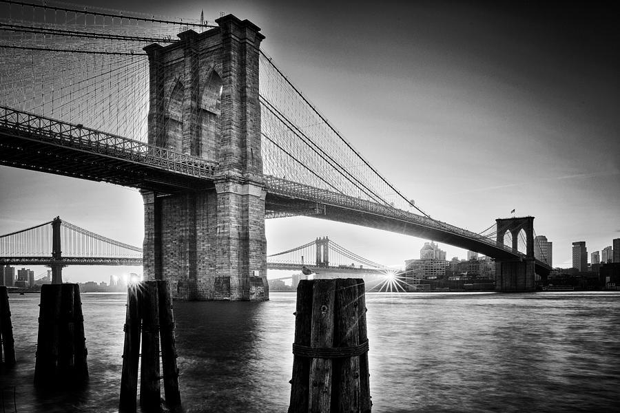 Brooklyn Bridge - Sunrise Photograph by Martin Froyda