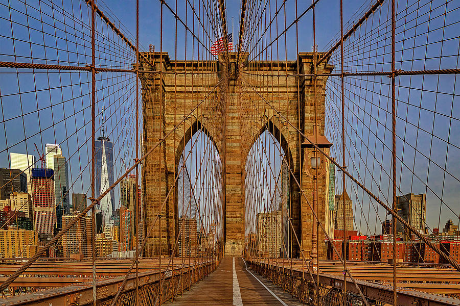 Brooklyn Bridge View To WTC NYC by Susan Candelario