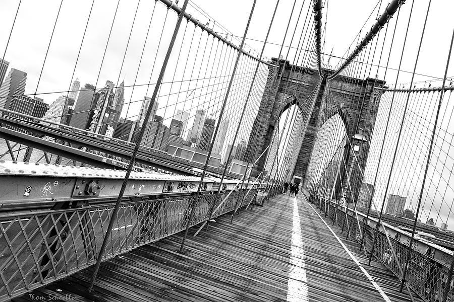 Brooklyn Bridge Walkway by T-S Fine Art Landscape Photography