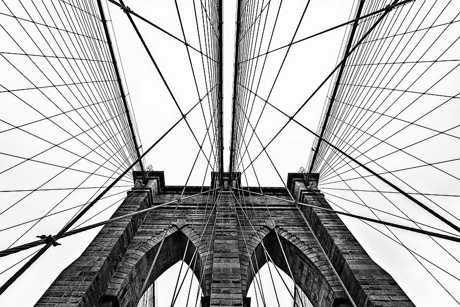 Brooklyn Bridge Website in Black and White by Kay Brewer