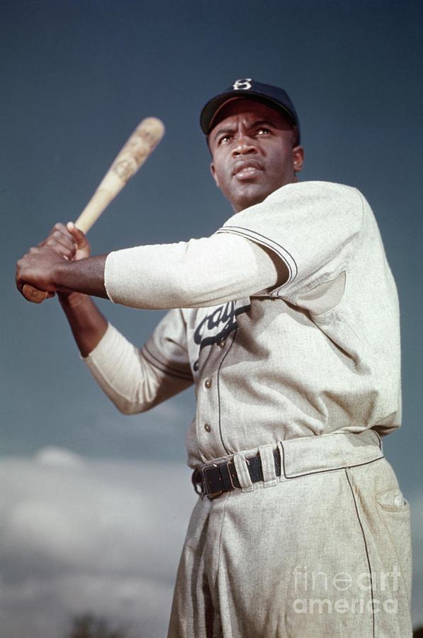 Brooklyn Dodger Jackie Robinson Photograph by Bettmann