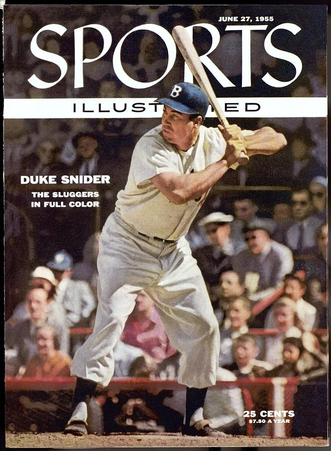 Brooklyn Dodgers Duke Snider... Sports Illustrated Cover Photograph by Sports Illustrated