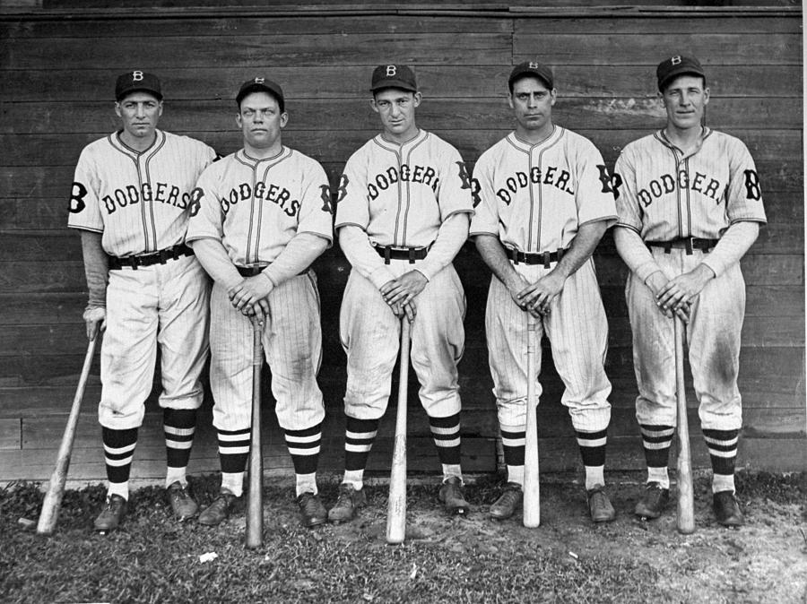 Brooklyn Dodgers Outfielders L. To R Photograph by New York Daily News Archive