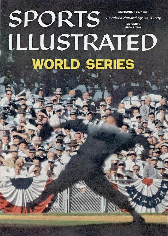 Brooklyn Dodgers Russ Meyer, 1955 World Series Sports Illustrated Cover Photograph by Sports Illustrated