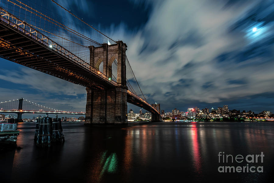 Brooklyn in the Moonlight by Sally Morales