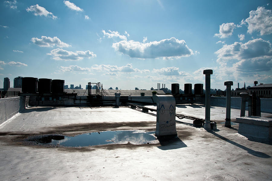 Brooklyn Rooftop With Manhattan Skyline Photograph by Kkong5