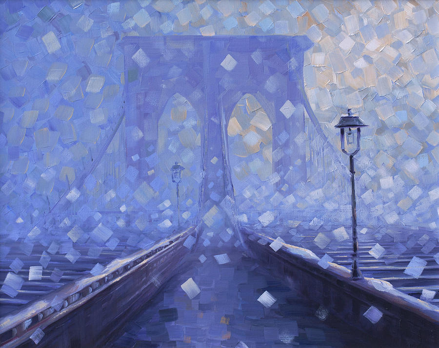 Brooklyn Bridge Painting - Brooklyn Silence by Rob Buntin