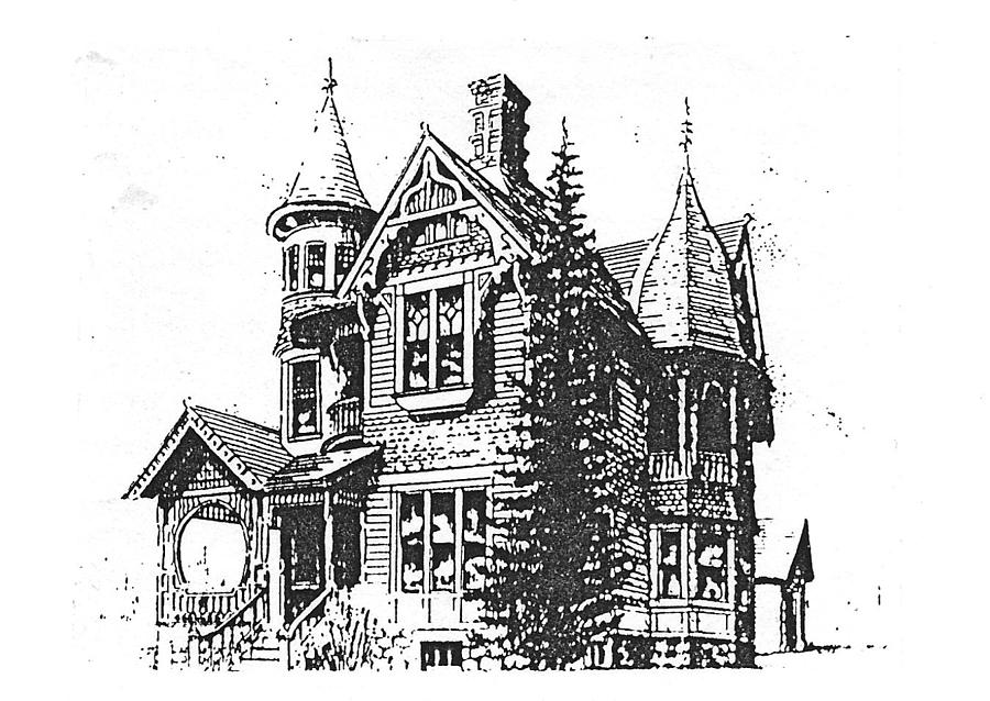 Corvallis Drawing - Brooks Hotel, Corvallis, Montana by Kevin Heaney