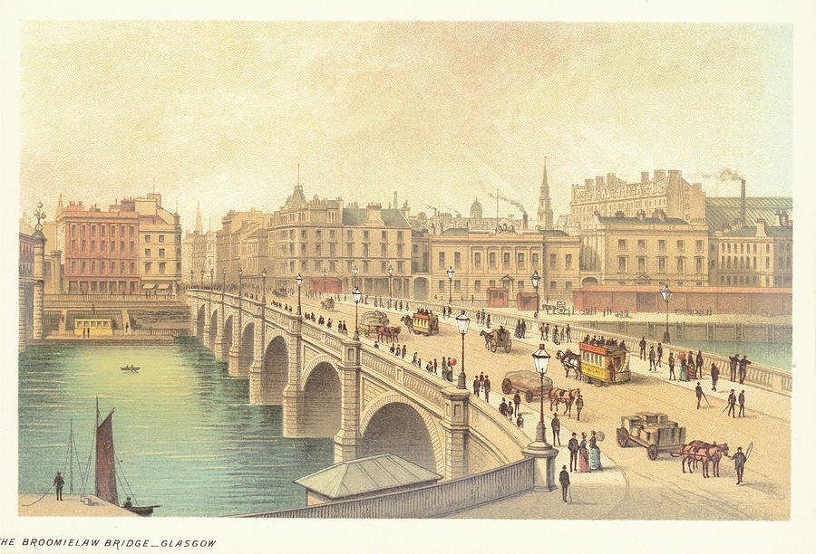 Broomielaw Bridge In Glasgow Photograph by Kean Collection