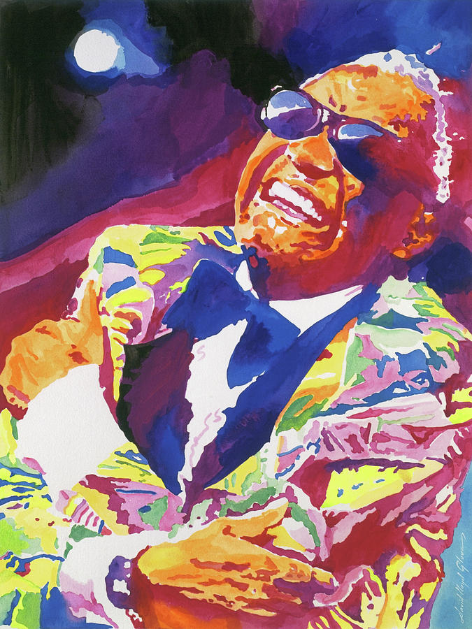 Ray Charles Painting - Brother Ray Charles by David Lloyd Glover