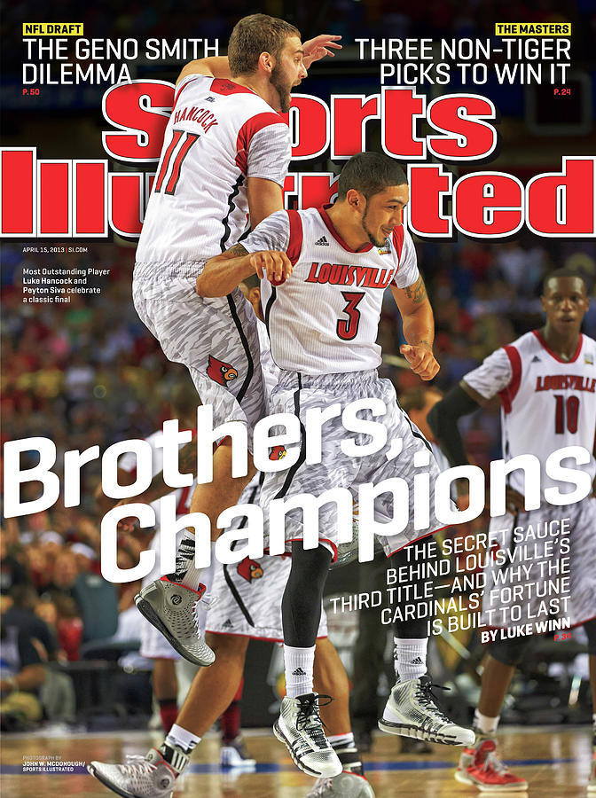 Brothers, Champions Louisville Wins National Championship Sports Illustrated Cover Photograph by Sports Illustrated