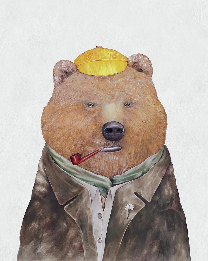 Brown Bear Painting - Brown Bear by Animal Crew