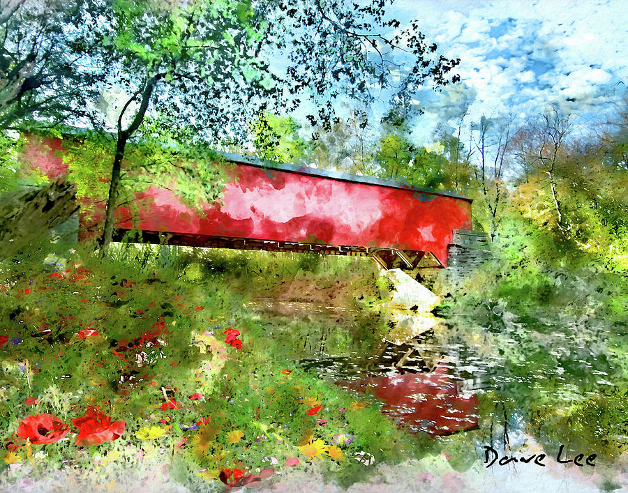 Brown County, Indiana - Covered Bridge by Dave Lee