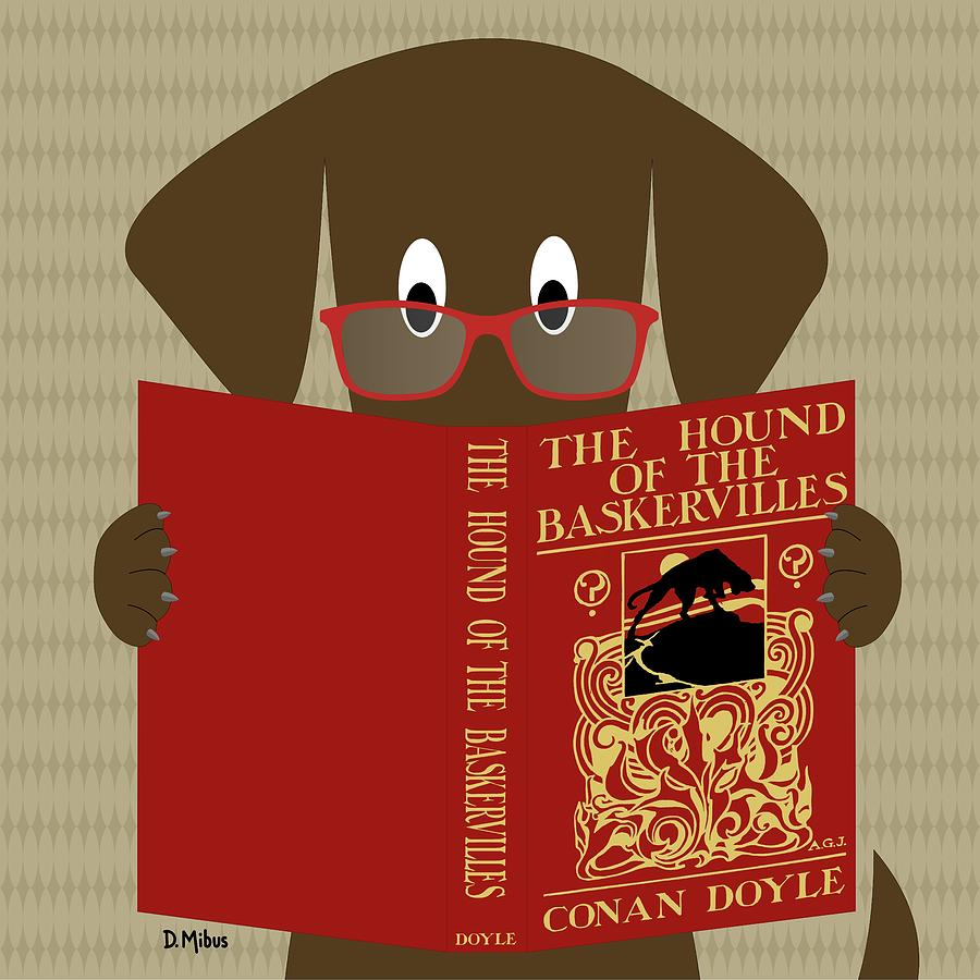 Brown Dog Reading by Donna Mibus