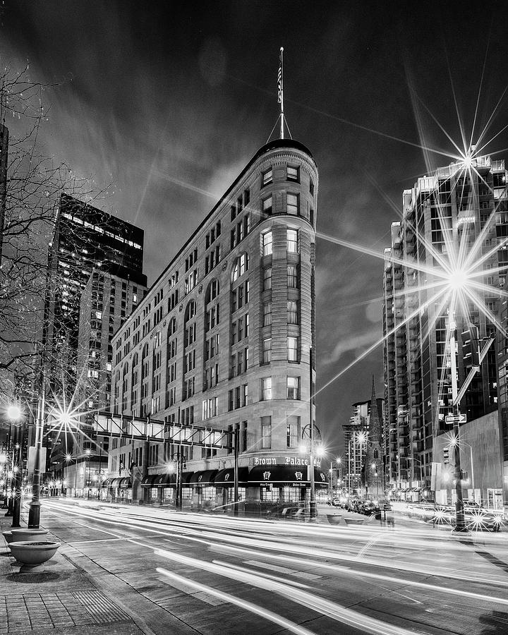Denver Photograph - Brown Palace Traffic by Stephen Stookey