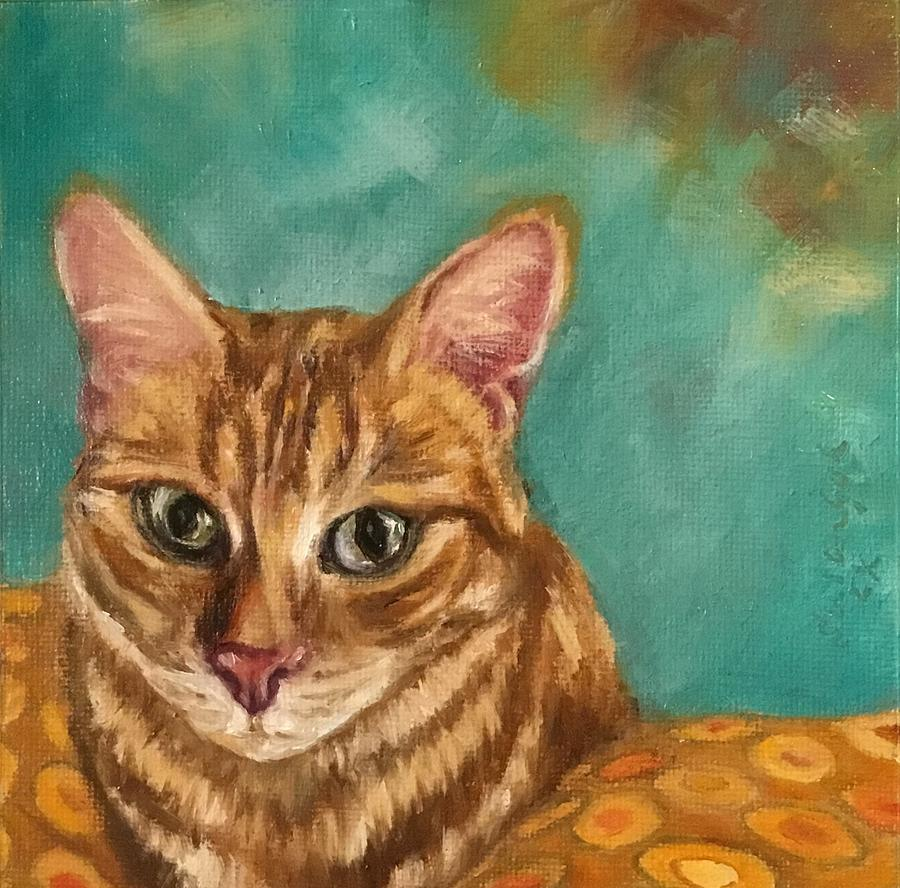 Brown tabby cat by Susan Goh