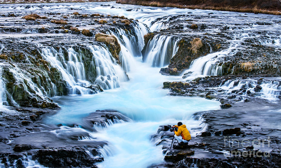 Icelandic Photograph - Bruarfoss,iceland With The Photographer by Cusycon