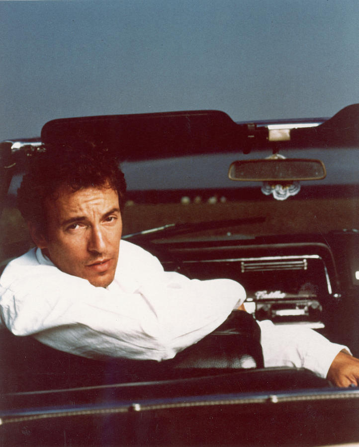 Bruce Springsteen In Convertible Photograph by Hulton Archive
