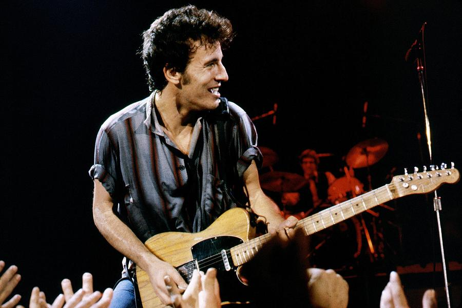 Bruce Springsteen Live Photograph by Larry Hulst