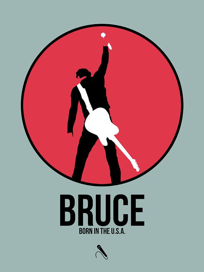 Bruce Springsteen Digital Art - Bruce Springsteen by Naxart Studio