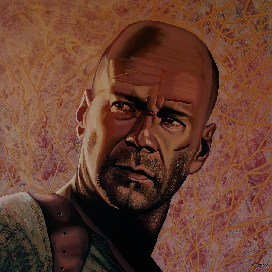 Bruce Willis Painting by Paul Meijering