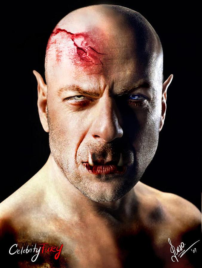 Bruce Willis Digital Art - Bruce Willis by Queso Espinosa