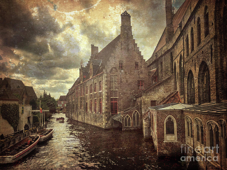 Bruges Canals Vintge by Jeanette French