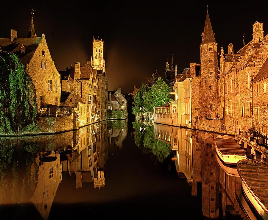 Brugge By Night Photograph by Dado Daniela