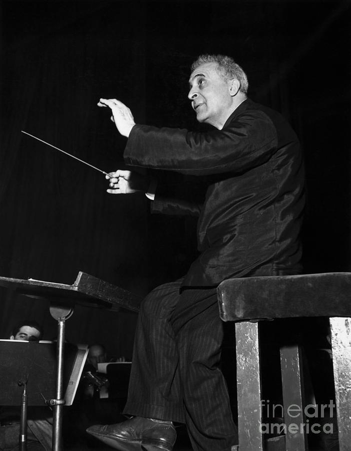 Bruno Walter During Rehearsal Photograph by Bettmann