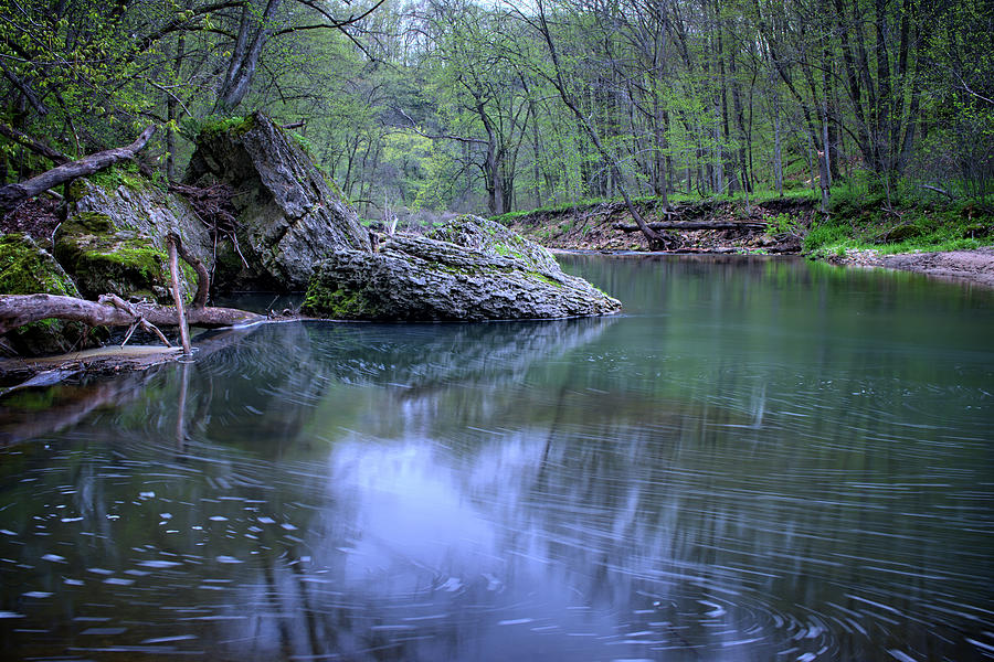 Mossy Photograph - Brush Creek Pools by Bonfire Photography