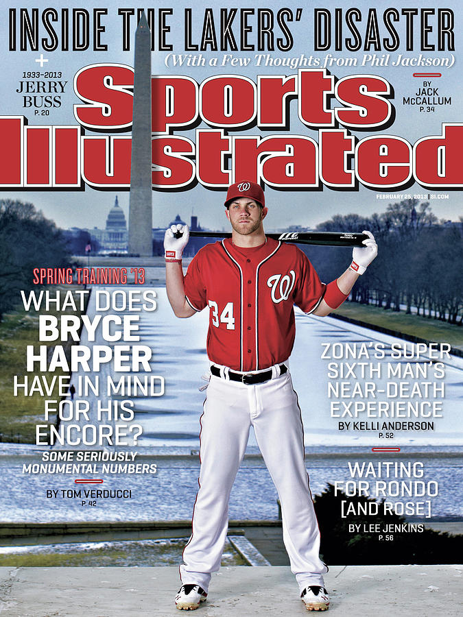 Bryce Harper Spring Training 13 Sports Illustrated Cover Photograph by Sports Illustrated