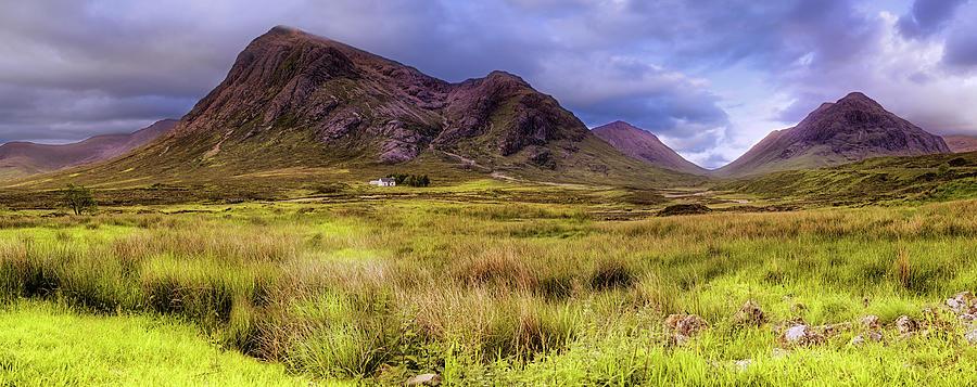 Buachaille Etive Mor Panorama - Lagangarbh Hut - Glencoe Scotland by Jason Politte